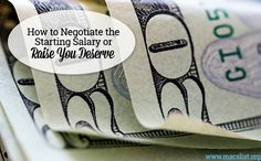 Negotiate the #salary or #raise you deserve with these tips from Mac's List! #jobsearchtips #negotiation #money