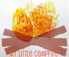 Campfire handprint art for camping unit by Tippytoe Crafts Kids Crafts, Preschool Projects, Daycare Crafts, Classroom Crafts, Summer Crafts, Summer Art, Toddler Crafts, Preschool Crafts, Toddler Activities