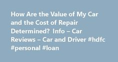 How Are the Value of My Car and the Cost of Repair Determined? Info – Car Reviews – Car and Driver #hdfc #personal #loan http://insurance.remmont.com/how-are-the-value-of-my-car-and-the-cost-of-repair-determined-info-car-reviews-car-and-driver-hdfc-personal-loan/  #auto insurance estimate # How Are the Value of My Car and the Cost of Repair Determined? Info There are several standard guidelines for determining the value of your car for insurance purposes. You and your insurer can refer to…