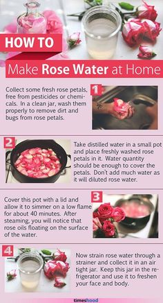 5 Easy Steps to Make Rosewater for Face. 10 Uses of Rose Water for Skin Care. Uses For Rose Water, Rose Water For Skin, Making Rose Water, Rose Water Face, Homemade Skin Care, Homemade Beauty Products, Diy Skin Care, Fresh Rose Petals, Perfume