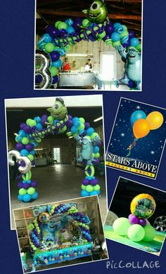 Monsters Inc birthday balloons