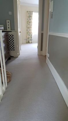 White Carpet to Stairs in Private Residence