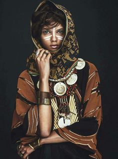 Marina Nery by Sebastian Kim for Vogue Australia. For more ethnic style and traditional inspirations, visit www.wandering-threads.com