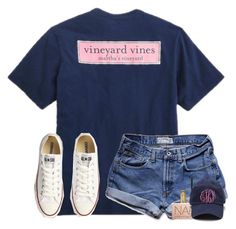 """""""goodnight """" by lydia-hh ❤ liked on Polyvore featuring Vineyard Vines, Abercrombie & Fitch, tarte, Urban Decay and Converse"""