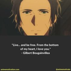 Anime Guys Gilbert Bougainvillea Quotes - Violet Evergarden is an emotional train ride from start to finish. Filled with sad moments, life lessons and relatable quotes along the way. Here are some of the best quotes V.E has to offer! Anime Qoutes, Manga Quotes, Sad Anime, Anime Love, Anime Guys, Anime Art, Violet Evergarden Gilbert, Digimon, Violet Evergarden Wallpaper
