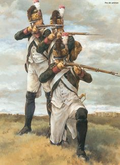 French Light Infantry still in the uniforms that were worn under the King.