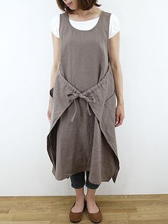 Rakuten: slone square Ron square French linen apron one piece, 652310P11Feb13- Shopping Japanese products from Japan