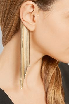 Rosantica | Fringed gold-tone pearl ear cuff | NET-A-PORTER.COM