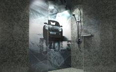 Collage auf 2x3m Glasfliese
