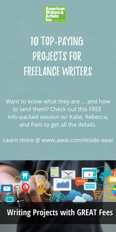 Learn all about the 10 top freelance writing projects that pay VERY well. There's quite a variety, so we're sure you'll discover an assignment or two that pique your interest. How To Make Money, How To Become, How To Get, Marketing Approach, Blog Writing, Copywriting, 10 Top, Presentation, Teaching