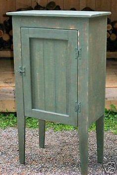 Primitive Handcrafted Waterbury Cupboard #primitivecountry