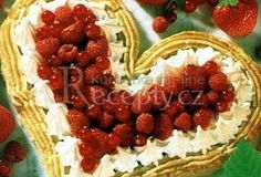 Dort ve tvaru srdce - valentýnský Raspberry, Strawberry, Thing 1, Eat Smarter, Waffles, Cheesecake, Fruit, Breakfast, Food