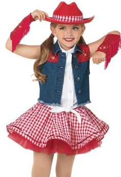 Fun and colorful women's and girl's character dance costumes for your dance recitals, competitions, and performances. Girls Cowgirl Costume, Cowgirl Tutu, Cowgirl Skirt, Cowgirl Outfits, Traje Cowgirl, Dance Outfits, Kids Outfits, Emo Outfits, Emo Dresses