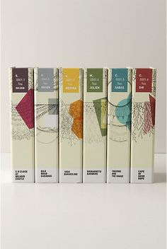 A collection of 6 different eau de pafums (featuring a different flavor of tea from around the world) created by different parfumers from the  fragrance house of Givauda.  Follow the cat | Studiobars www.studio-bars.com