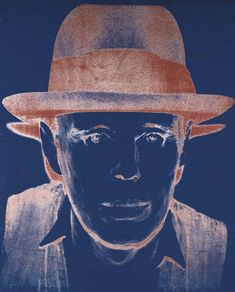 Andy Warhol / The Artist Joseph Beuys, 1981. Synthetic polymer paint and silkscreen inks with diamond dust on canvas, 254 x 200 cm.