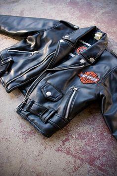 Vintage Harley Davidson Biker Motorcycle Jacket Boys 7 on Etsy, $28.00