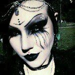 Necrinity from Vampirefreaks with a great white base #Goth girl look