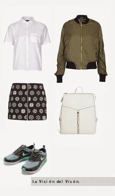 La Visión del Visón: Lookbook: Bomber Jacket Estilo Fashion, Jean Top, Bomber Jacket, Crop Tops, Jeans, Jackets, Style, Down Jackets, Swag