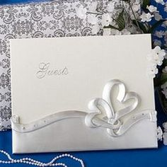Heart themed wedding guest book for R185.00