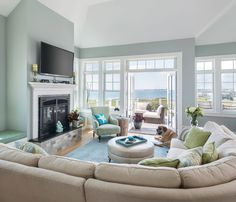 Love the fireplace surround - Lisa Zompa of Kitchen Views