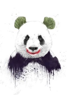 Poster | JOKERFACE von Balazs Solti | #poster #design #illustration #balazssolti #bsolti #art #artwork #drawing #panda