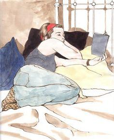 Women Reading - thomerama: Jonathon Poliszuk Repinned by Ellery Adams www.elleryadamsmysteries.com