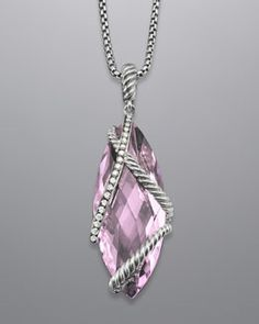 Y0M01 David Yurman Cable Wrap Enhancer, Lavender Amethyst, 30x12mm