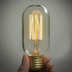 Antique vintage edison style light bulb 40w 220v T46 Carbon filament tubelight on Etsy, $15.87 AUD