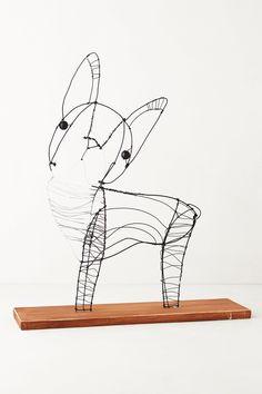 Wire Dog Sculpture By Kaitlyn McCane - anthropologie.com