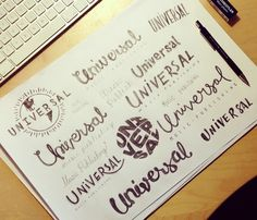 Universal logotype by Tobias Hall, via Behance