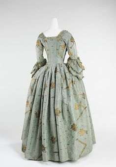 Robe à l'Anglaise Date: 1770–75 Culture: British Medium: silk, metal Accession Number: 2009.300.648