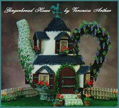 Veronicas Tea Cottage - I won runner up in the 2000 Goodhousekeeping Magazine Gingerbread House Contest!