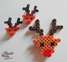 Cómo hacer renos con hama beads.