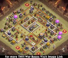 Superb Town Hall 11 War Base Designs for 3 Stars Clsh Of Clans, Clash Of Clans App, Dragon City Cheats, Dragon City Game, 8k Wallpaper, Mobile Legend Wallpaper, Supercell Clash Of Clans, Trophy Base, Happy Birthday Invitation Card
