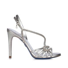 Sandali gioiello da sposa 2016 - Sandali argento Loriblu Bridal Shoes, Wedding Shoes, Jeweled Sandals, Leather Sandals, Swarovski, Jewels, Silver, Euro, Wedding Ideas