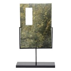 Rectangular Jade Sculpture on Stand - $275