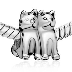 26d2e9262 CharmSStory Cute Animal Twin Cat Lover Silver Plated Charms Beadss For  Bracelets ** More info could be found at the image url. (This is an  affiliate link ...