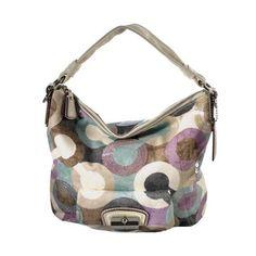 e85aa974f6e Coach Kristin Graphic Op Art Hobo Handbag ❤ liked on Polyvore