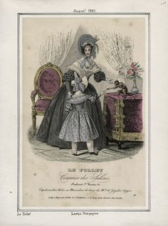 Casey Fashion Plates Detail   Los Angeles Public Library: Robes des magasins de Gagelin-Opigez. Title:  Lady's Magazine Date:  Tuesday, August 1, 1837