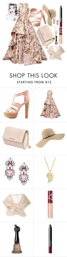 """""""summer fete"""" by terry-mae ❤ liked on Polyvore featuring Charlotte Russe, Monique Lhuillier, Givenchy, Coal, Erickson Beamon, Sonal Bhaskaran, Chesca, Wander Beauty, Anna Sui and NARS Cosmetics"""
