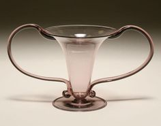 Venini Amethyst Libellula Art Glass Vase 19.5cm