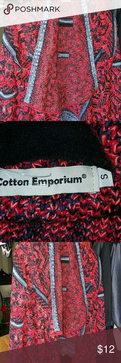 Awesome cardigan style sweater. NWOT sweater, hangs lower in the front Cotton Emporium  Sweaters Cardigans