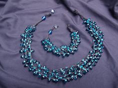 Pretty! #handmade Turquoise necklace and bracelet set