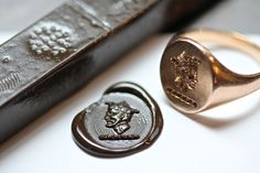 Letter Seal Ring | Essentials (men's accessories) visit http://www.pinterest.com/davidos193/