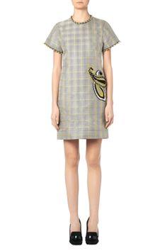 Brodle_dress_pf15-rdr-0001_gold_tartan_emb_front_1