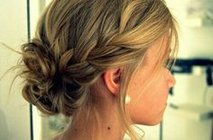 Cute hair! If not for wedding, definitely for prom!