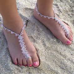 crochet barefoot sandals pattern | crochet inspiration - barefoot sandals