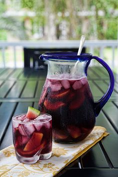 Watermelon Peach Sangria with wine and liquor