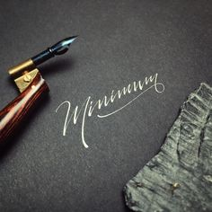 Minimum ... our favourite word?! Happy Friday all!  #makedaily #calligraphy #calligraffiti #calligritype #typographyinspired #blackletter #inking #ink #lettering #dippen #handstyles #thedailytype #caligrafia #graffiti #showusyourtype #graphicdesign #goodtype #typedaily #typespire #handmadefont #art