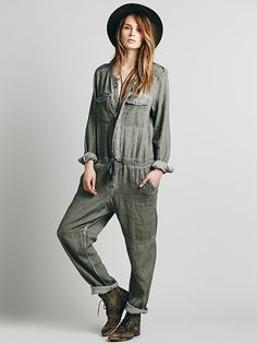 Free People Castaway Herringbone Coverall at Free People Clothing Boutique